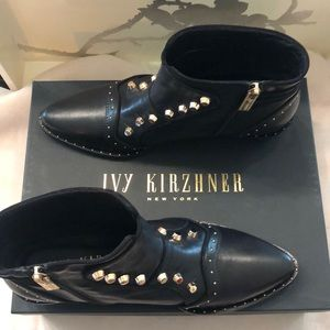 Ivy Kirzhner Leather Ankle Boot Size 9 NWT